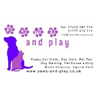 Paws and Play Dog Walking and Pet Sitting Doncaster Nottinghamshire Logo