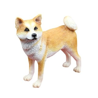 Home Decor Resin Dog Statue-Akita Crafted Figurine
