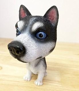 OZUKO Bobblehead Akita Husky Dog for Car Dashboard Mini Bobbling heads Toys Figurine Desk Decoration