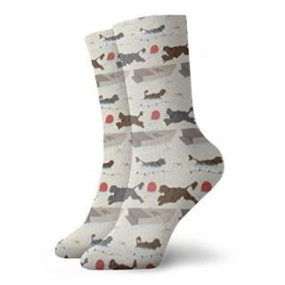 Australian Cattle Dog Socks Lightweight Cotton Crew Stretch Egyptian Made
